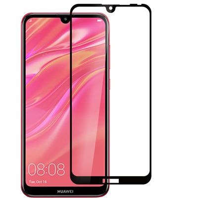 ESTUFF Huawei Y7 (2019) Screen protector - Zwart,Transparant