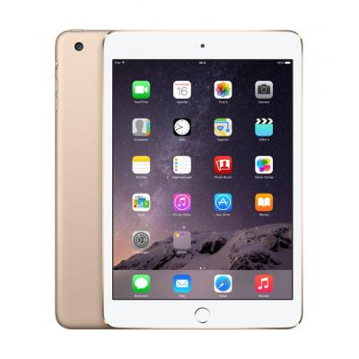 Apple tablet: iPad mini 3 Wi-Fi Cell 64GB - Gold - Goud (Refurbished LG)