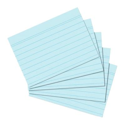 Herlitz index card A6 ruled blue 100 pieces Indexkaart - Blauw