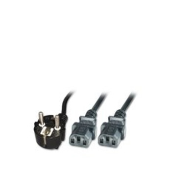 Microconnect Power Y-Cord Schuko Angled - C13 x 2, 1.8m Electriciteitssnoer