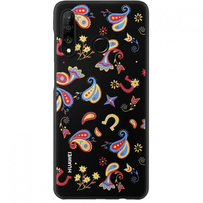 Huawei TPU Case Flower Black Mobile phone case - Multi kleuren