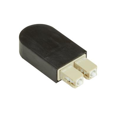 Black Box Fiber Optic Loopback - OM3, Multimode, SC, Black Fiber optic adapter - Zwart