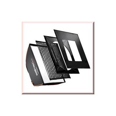 Walimex softbox: pro Softbox PLUS OL 50x70cm Aurora/Bowens - Zwart, Wit