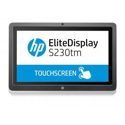 Hp touchscreen monitor: EliteDisplay S230tm 58,4-cm (23-inch) touch-monitor - Zwart, Zilver