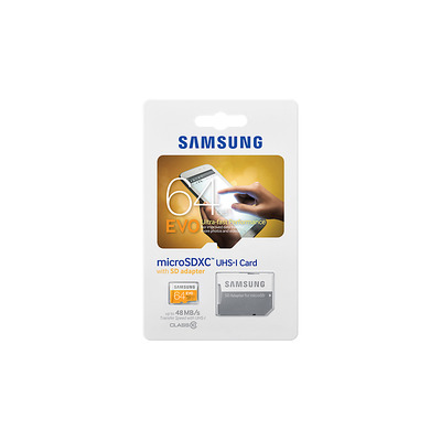 Samsung flashgeheugen: MB-MP64D - Oranje, Wit