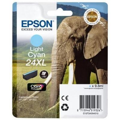 Epson inktcartridge: 24XL inktcartridge licht cyaan high capacity 9.8ml 740 paginas 1-pack RF-AM blister