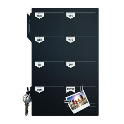 Securit bord: 300 x 3 x 450 mm, 100 g - Zwart