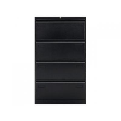 Bisley archiefkast: Hangmappenkast 4 laden zwart