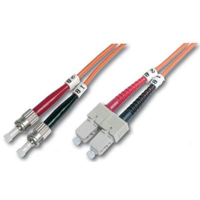 """Digitus Fiber Optic Patch Cord, Duplex, ST/SC MultiMode, OM1, 62.5/125µ"""", 1.0m Fiber optic kabel - Oranje"""