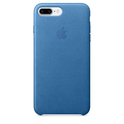 Apple mobile phone case: Leren hoesje voor iPhone 7 Plus - Zeeblauw