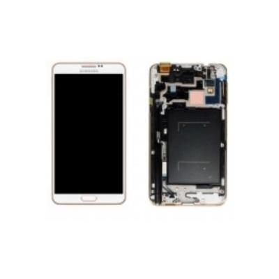 Samsung mobile phone spare part: N9005 Galaxy Note 3 Touch Screen Display Complete, white/gold