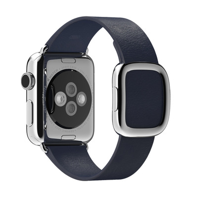 Apple : Middernachtblauw bandje, moderne gesp 38 mm, Large