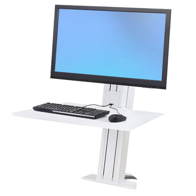 Ergotron WorkFit SR Monitorarm - Wit