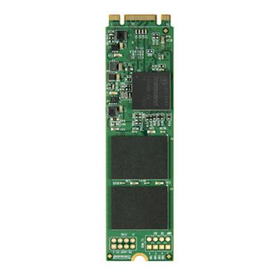 Transcend MTS800 SSD - Zwart, Groen