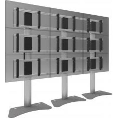 SmartMetals 2x2, 55'', VESA, aluminium, grijs TV standaard