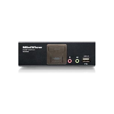 Iogear MiniView 2 Port KVMP Switch KVM switch - Zwart