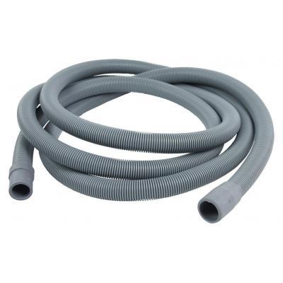 Hq keuken & huishoudelijke accessoire: Outlet hose 21 mm straight - 19 mm straight 3.00 m - Grijs
