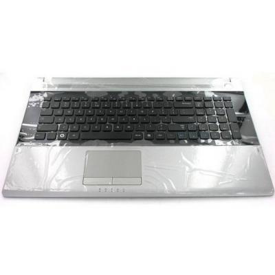 Samsung notebook reserve-onderdeel: Top Case, Silver With Keyboard (English) - Zwart, Zilver