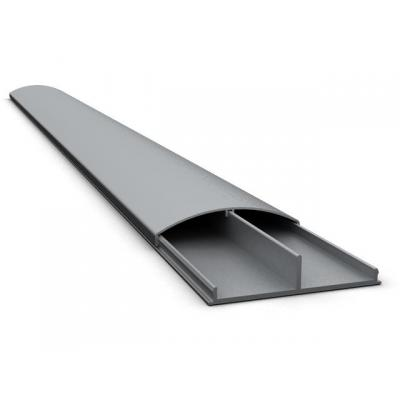Multibrackets kabel beschermer: M Universal Cable Cover - Super Slim, Brushed Aluminium, 75x1100mm - Grijs