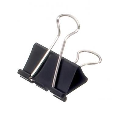 Maul paperclip: 19 mm, 7 mm - Zwart