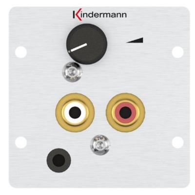Kindermann 7444000418 Wandcontactdoos - Aluminium