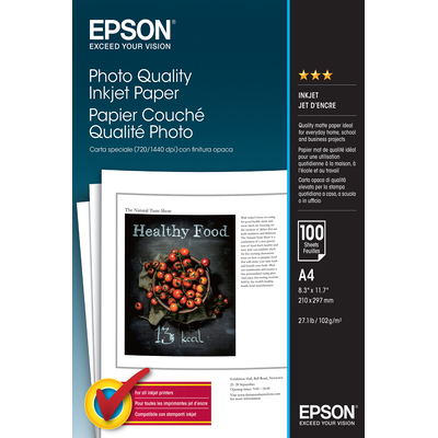 Epson Photo Quality Inkjet Paper - A4 - 100 Vellen Fotopapier - Wit
