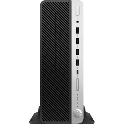 HP EliteDesk 705 G4 SFF A10-9700 8GB RAM 256GB SSD Pc - Zwart, Zilver