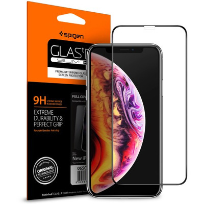 Spigen GLAS.tR Slim Screen protector - Zwart,Transparant