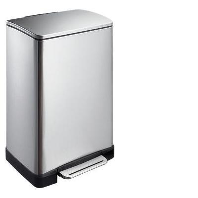 Eko - europe prullenbak: E-Cube Step Bin 40L - Roestvrijstaal