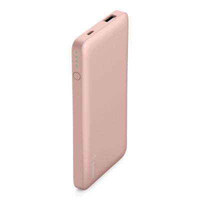 Belkin Polymer, 5000mAh, USB, 2.4A, micro USB, Rose Gold Powerbank - Goud,Rozenhout