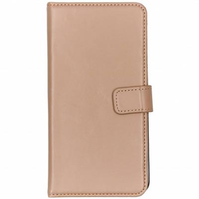 Echt Lederen Booktype iPhone 8 Plus / 7 Plus - Beige Mobile phone case