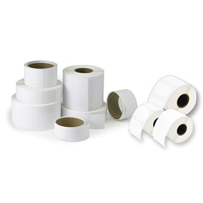 DTM Print Poly White Gloss Labels Etiket - Wit