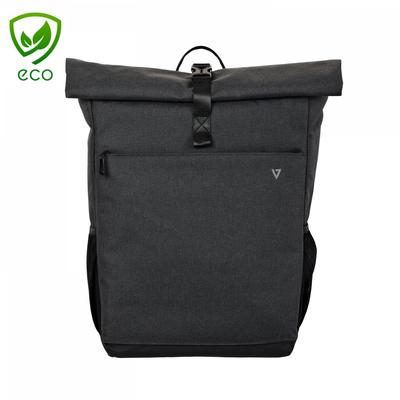 """V7 16"""" Elite Rolltop Laptop Backpack Rugzak"""