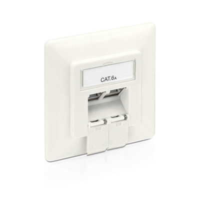PureLink Cat.6A Wallplate, white - Wit