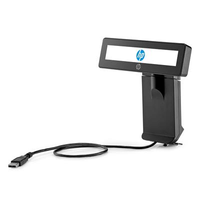 Hp paal display: RP9 geïntegreerd 2 x 20 scherm met arm - Zwart