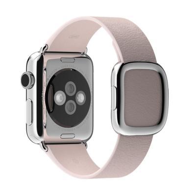 Apple horloge-band: 38mm Soft Pink Modern Buckle, Large - Roze