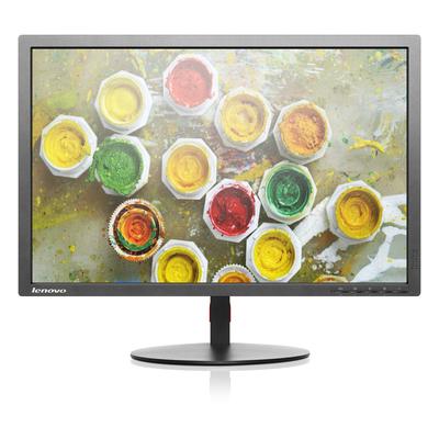Lenovo monitor: ThinkVision T2254p - Zwart