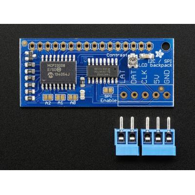Adafruit : LCD backpack, I2C 7-bit