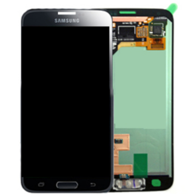 Samsung mobile phone spare part: SM-G800F Galaxy S5 Mini, Complete Front+LCD+Touchscreen, black