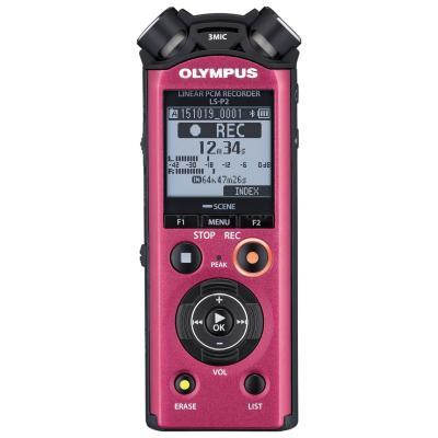 Olympus voice recorder: LS-P2 - Rood