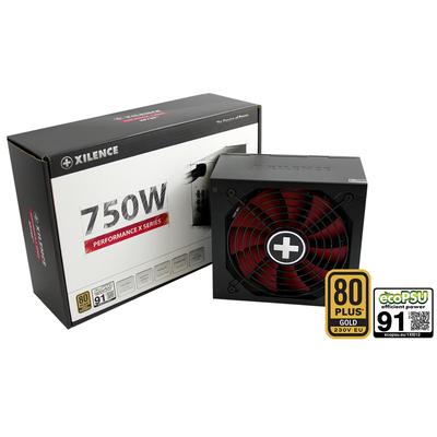 Xilence XP750MR9 Power supply unit - Zwart, Rood