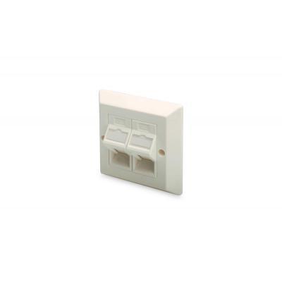 Digitus : Professional Muurplaat voor Keystone Modules, Brits type , Frame 86x86mm - Wit