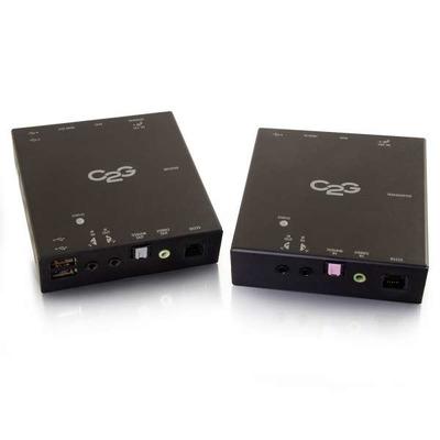 C2G HDBaseT HDMI + USB Over Cat5 Extender AV extender - Zwart