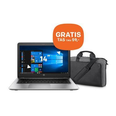 Hp laptop: ProBook ProBook 440 G4 14 inch 128GB + GRATIS tas (P6N20AA) - Zwart, Zilver