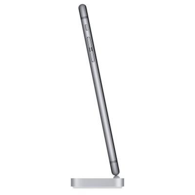 Apple mobile device dock station: iPhone Lightning Dock - Spacegrijs - Grijs, Metallic