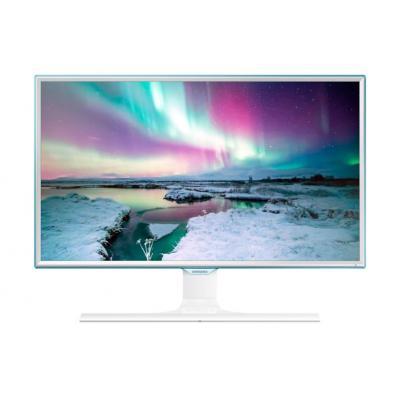 "Samsung monitor: FHD Monitor met oplaadfunctie 27"" (3-serie) S27E370D - Wit, Blauw"