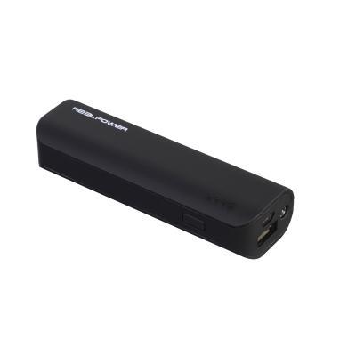 Realtron batterij: RealPower PB-2600 (Zwart)