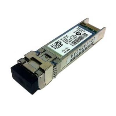 Cisco netwerk tranceiver module: 10GBASE-SR SFP+ transceiver module for MMF, 850-nm wavelength, LC duplex connector