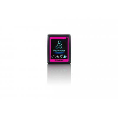 Lenco MP3 speler: Podo-152 - Zwart, Roze