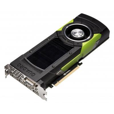 Hp videokaart: NVIDIA Quadro M6000 12GB - Zwart, Groen